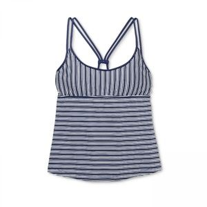 NWT Mossimo Racerback Tankini Swim Top XL Blue